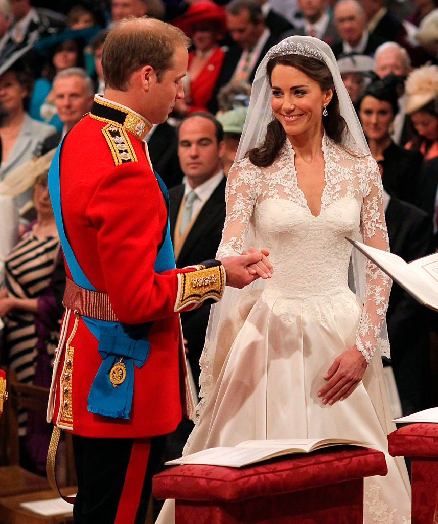 Prince William and Kate Middleton exchange vows during their Royal Wedding at Westminster Abbey on April 29, 2011 in London, England | Photo: Getty Images