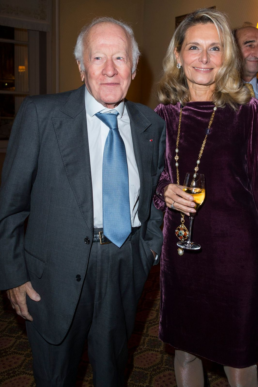 Jacques Chancel et sa compagne Martine | Photo : Getty Images.