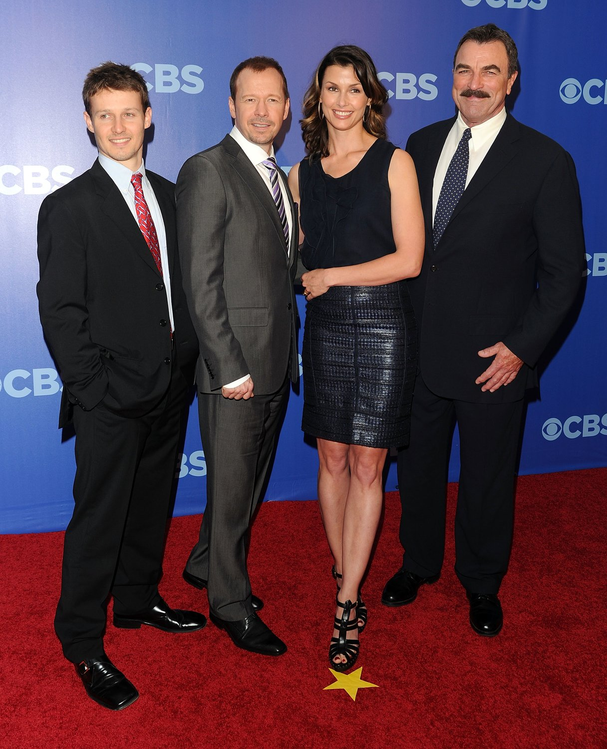 Will Estes, Donnie Wahlberg, Bridget Moynahan and Tom Selleck attend the 2010 CBS UpFront at Damrosch Park, Lincoln Center on May 19, 2010 in New York City | Photo: GettyImages