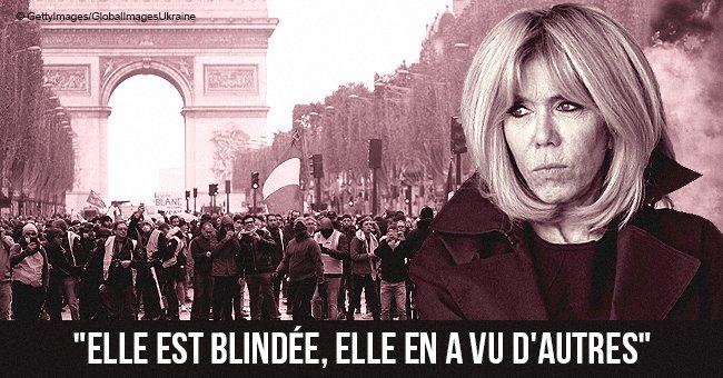 Comment Brigitte Macron montre-t-elle son calme face à la violence de 'Gilets jaunes'