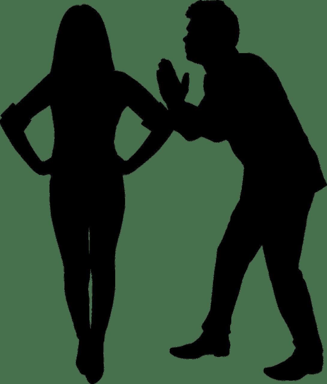 Pareja discutiendo. Fuente: Pixabay