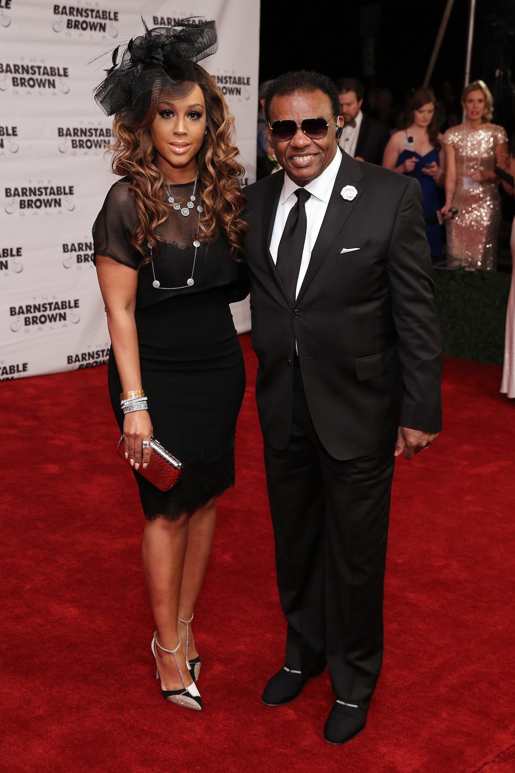 Ron Isley & Kandy Johnson Isley at the Barnstable Brown Kentucky Derby Eve Gala on May 1, 2015   Photo: Getty Images