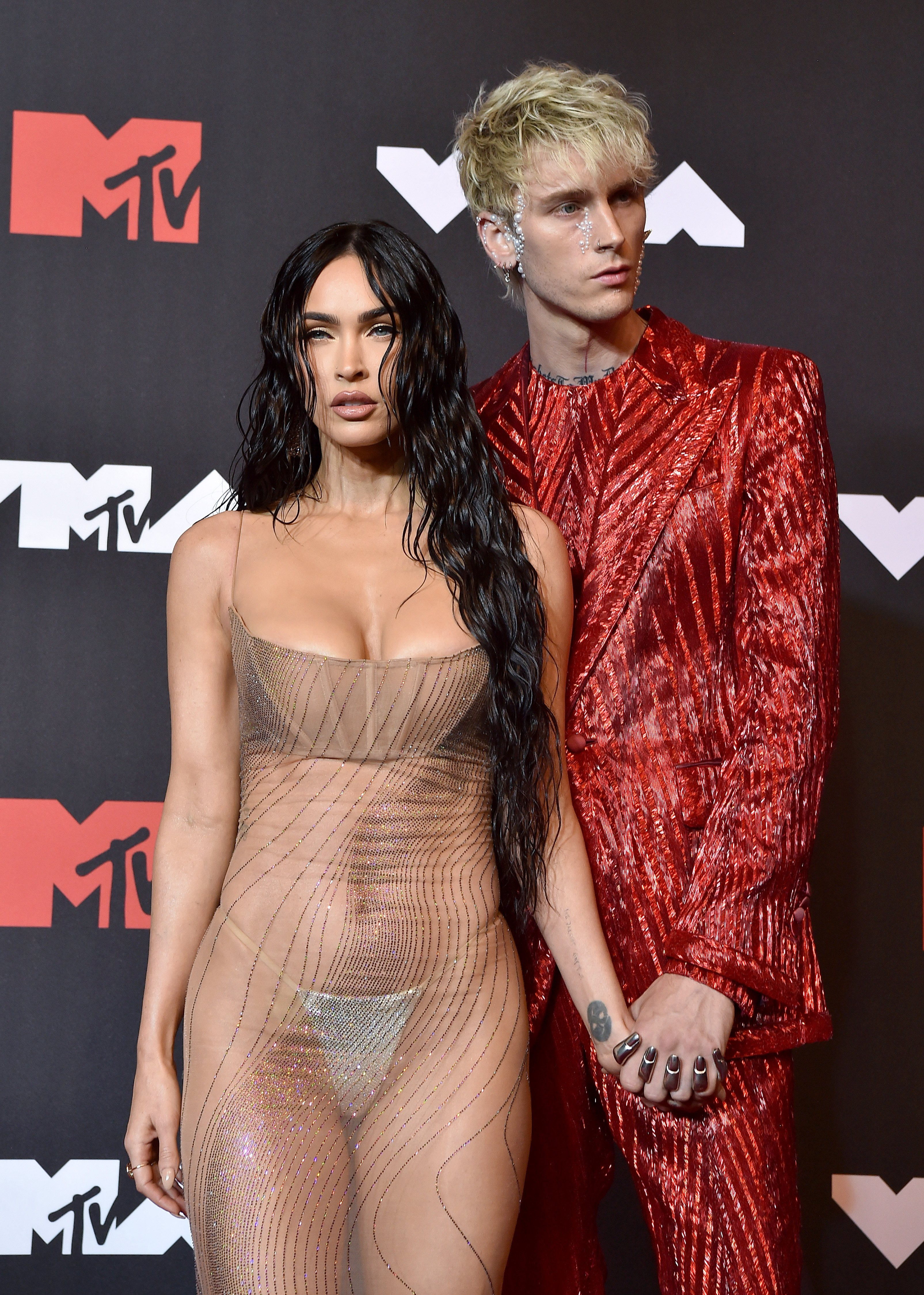 Megan Fox and Machine Gun Kelly at the 2021 MTV Video Music Awards at Barclays Center on September 12, 2021 | Photo: Getty Images