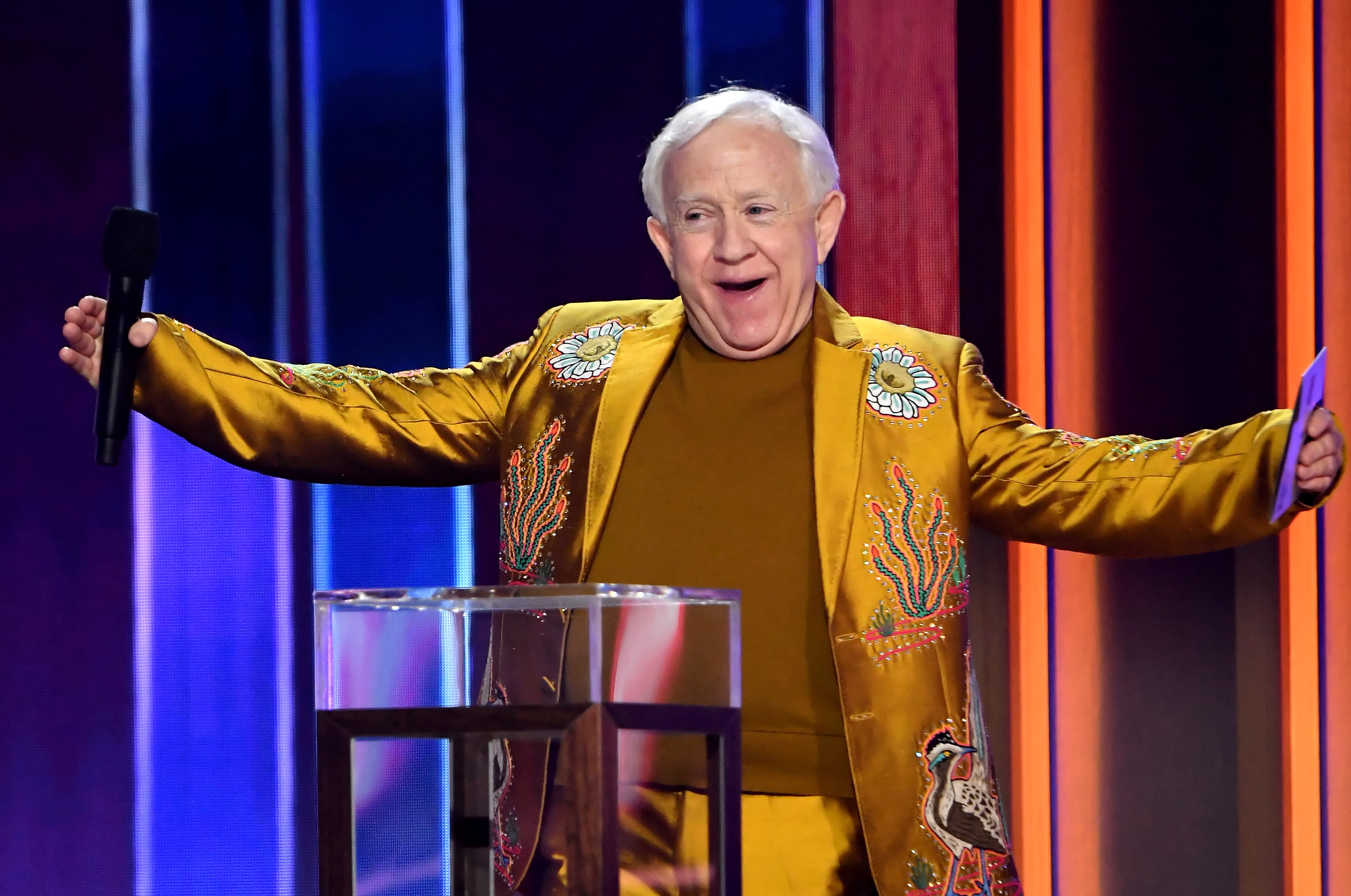 Leslie Jordan pictured at the 56th Academy of Country Music Awards at the Grand Ole Opry, 2021, Nashville, Tennessee.