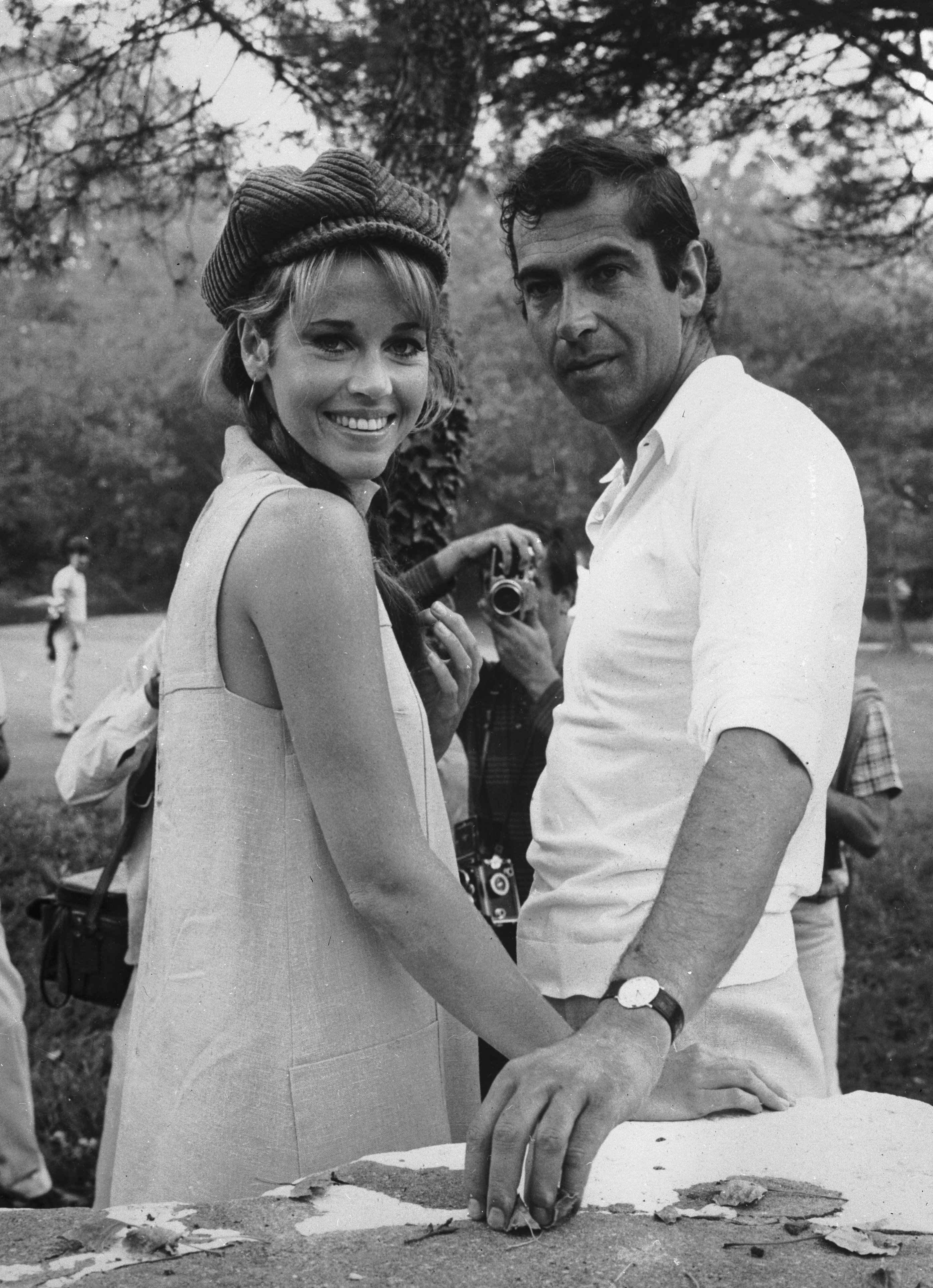 American actress Jane Fonda with her husband, the French film director Roger Vadim in 1966. | Source: Getty Images