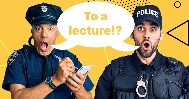 Going to a lecture at 2am? The officers are in for more surprise   Photo: Amomama