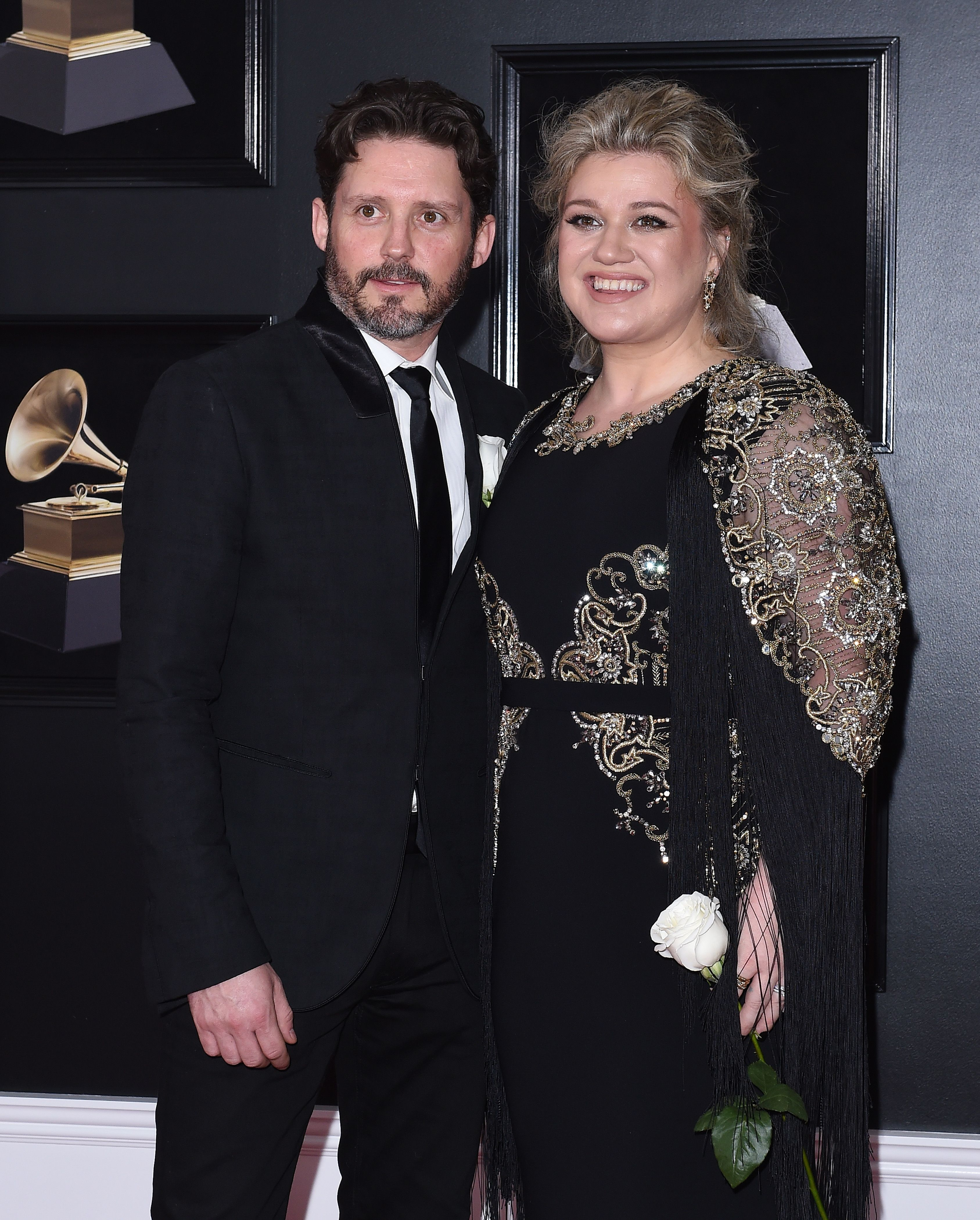Kelly Clarkson and Brandon Blackstock at the 60th Annual GRAMMY Awards at Madison Square Garden on January 28, 2018 | Photo: Getty Images