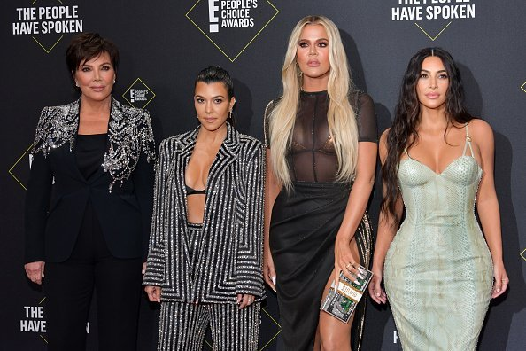 Kris Jenner, Kourtney Kardashian, Khloé Kardashian and Kim Kardashian attend`Kim Kardashian the 2019 E! People's Choice Awards at Barker Hangar on November 10, 2019 in Santa Monica, California | Photo: Getty Images