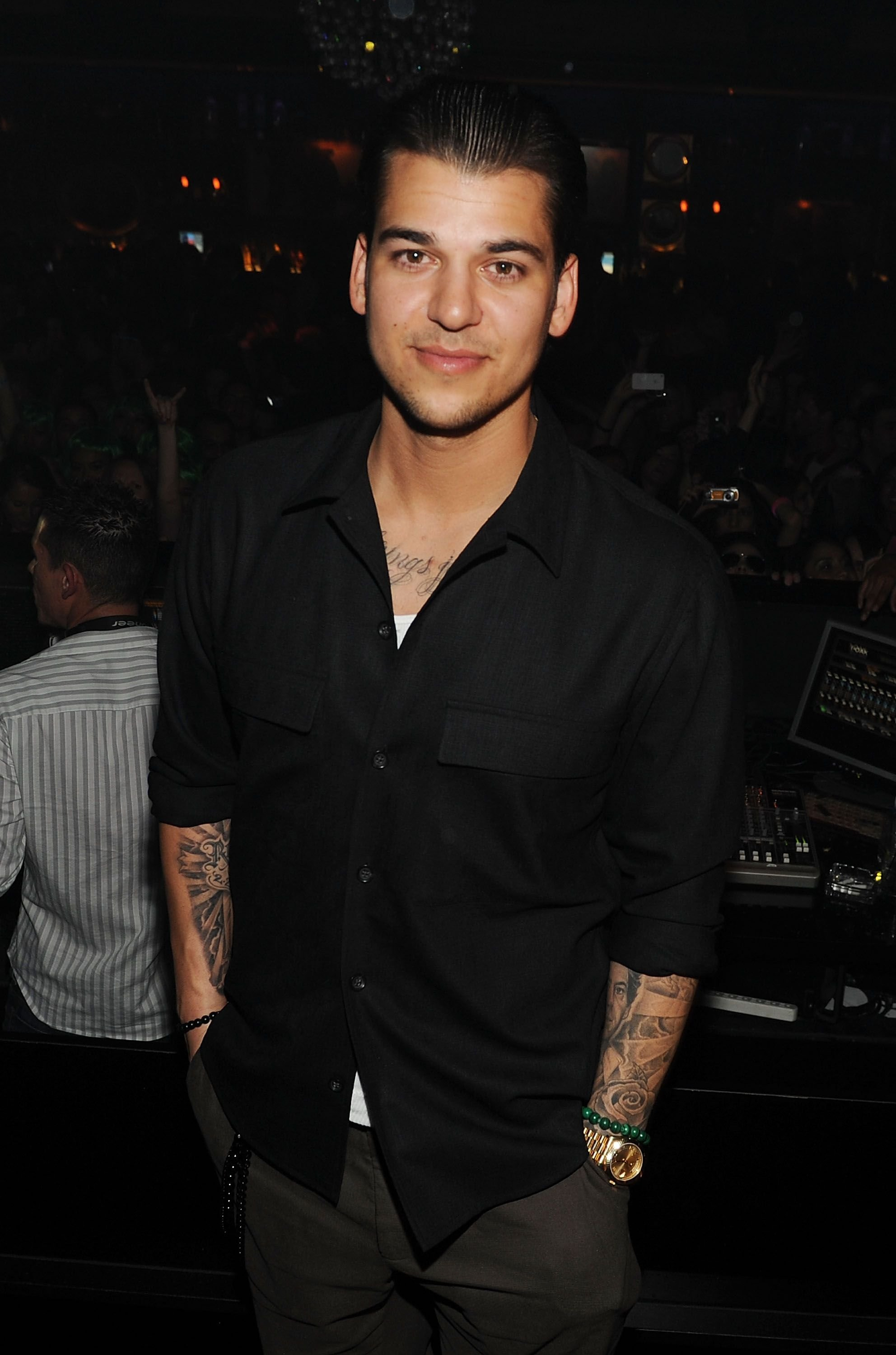 Rob Kardashian during his birthday at 1 Oak on March 16, 2012 in Las Vegas, Nevada. | Source: Getty Images