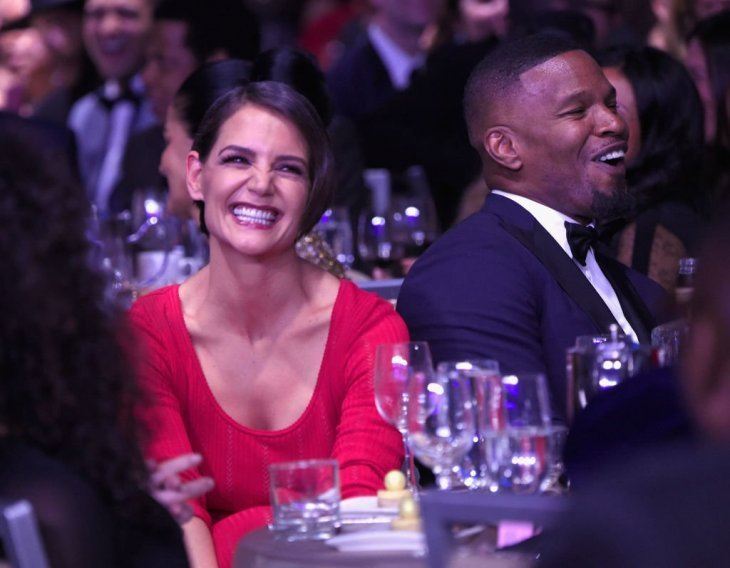 Katie Holmes and Jamie Foxx at the Clive Davis and Recording Academy Pre-GRAMMY Gala on Jan. 27, 2018 in New York City. |Photo: Getty Images.