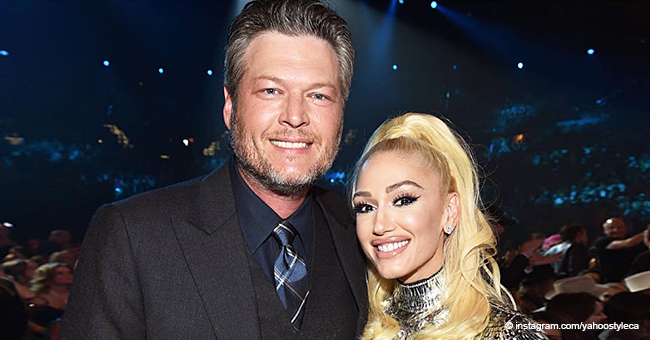 Blake Shelton Spotted on Camera with Gwen Stefani Bringing His 'Own Microphone' to the ACM