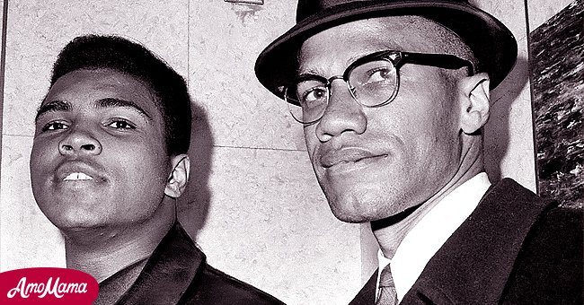 Professional boxer Muhammad Ali and civil rights activist Malcolm X | Source: Getty Images