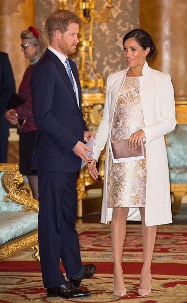 Meghan Markle et le prince Harry au palais de Buckingham le 5 mars 2019, à Londres, en Angleterre. | Photo : Getty Images.