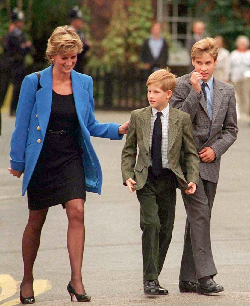 Princess Diana, Prince Harry, and Prince William at Eton in September 1995 | Photo: Anwar Hussein/WireImage/Getty Images