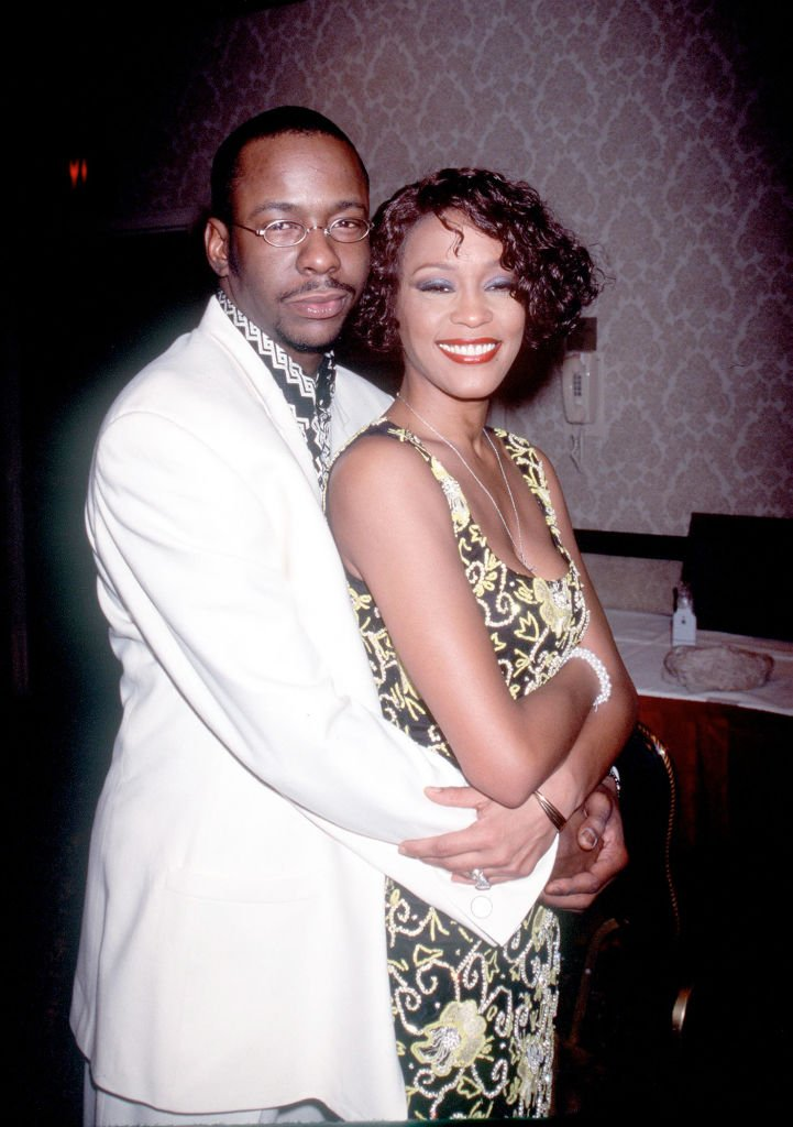 "Whitney Houston with Bobby Brown at ""Whitney Houston''s All-Star Holiday Gala"" in New York, 