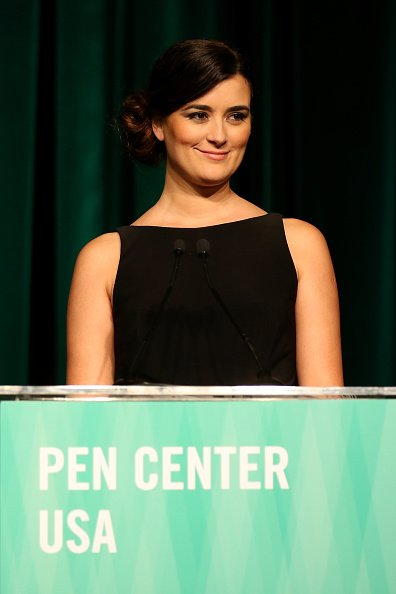 Cote De Pablo speaks onstage during PEN Center USA's 26th Annual Literary Awards Festival honoring Isabel Allende | Photo: Getty Images