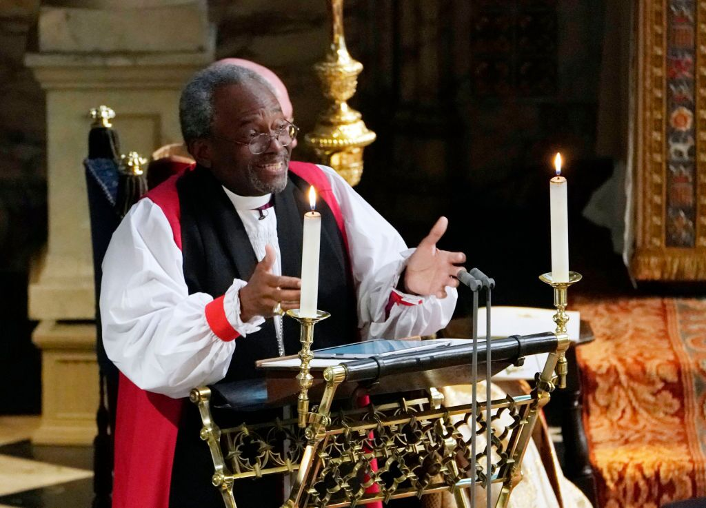 Pastor speaking at the Royal wedding | Getty Images