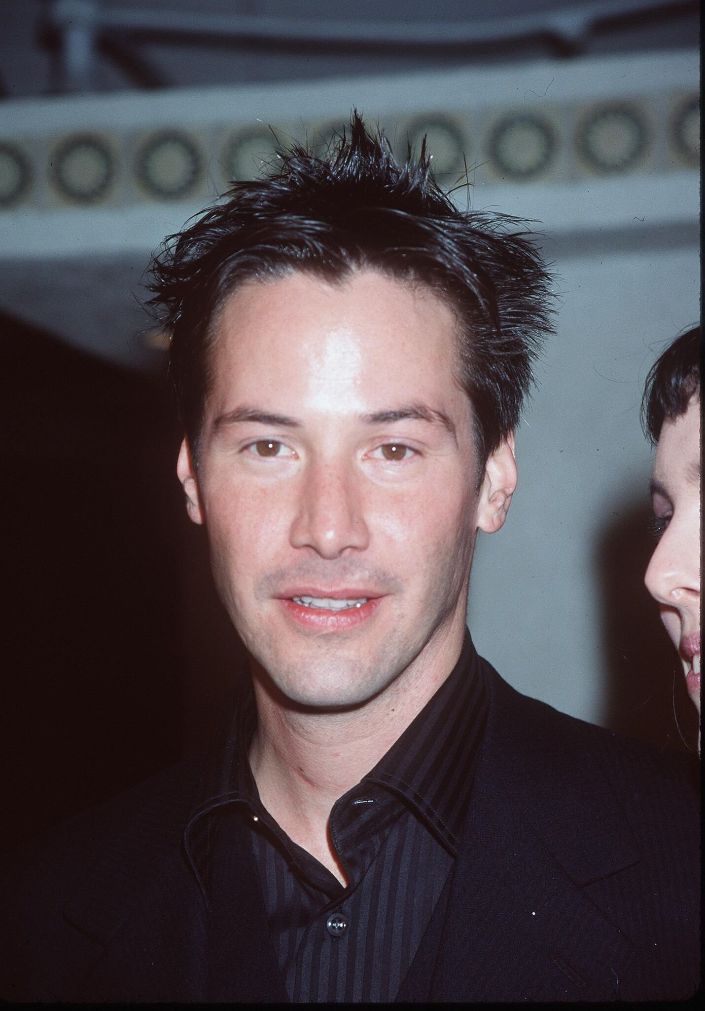 "Keanu Reeves arrives at the world premiere showing of the new film ""The Matrix""  