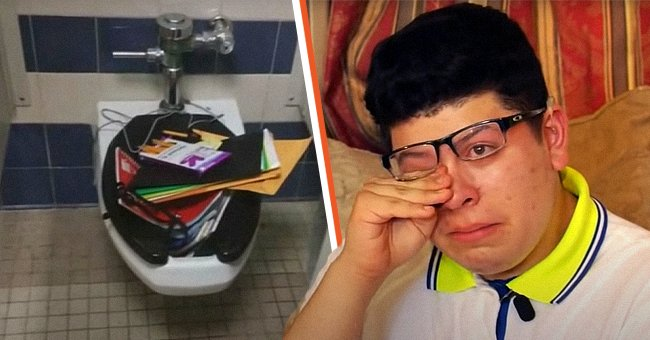 A picture of Alex Hernandez and his backpack | Photo: youtube.com/KMTV 3 News Now