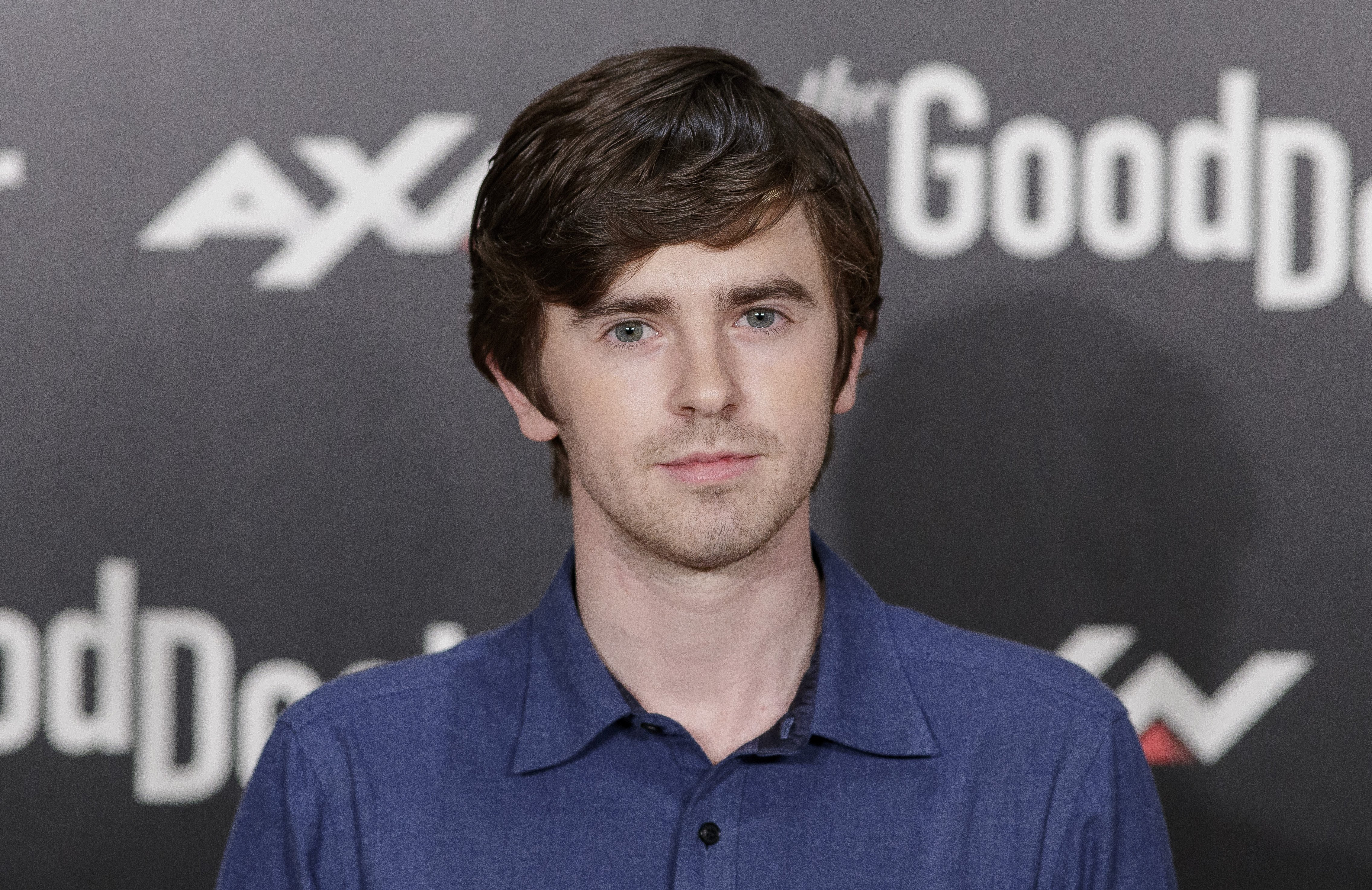 "Freddie Highmore attends the ""The Good Doctor"" photocall in Madrid, Spain on March 26, 2019 