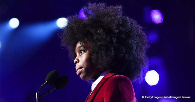 Diana Ross' adorable grandson steals the show with a cute speech about his grandma