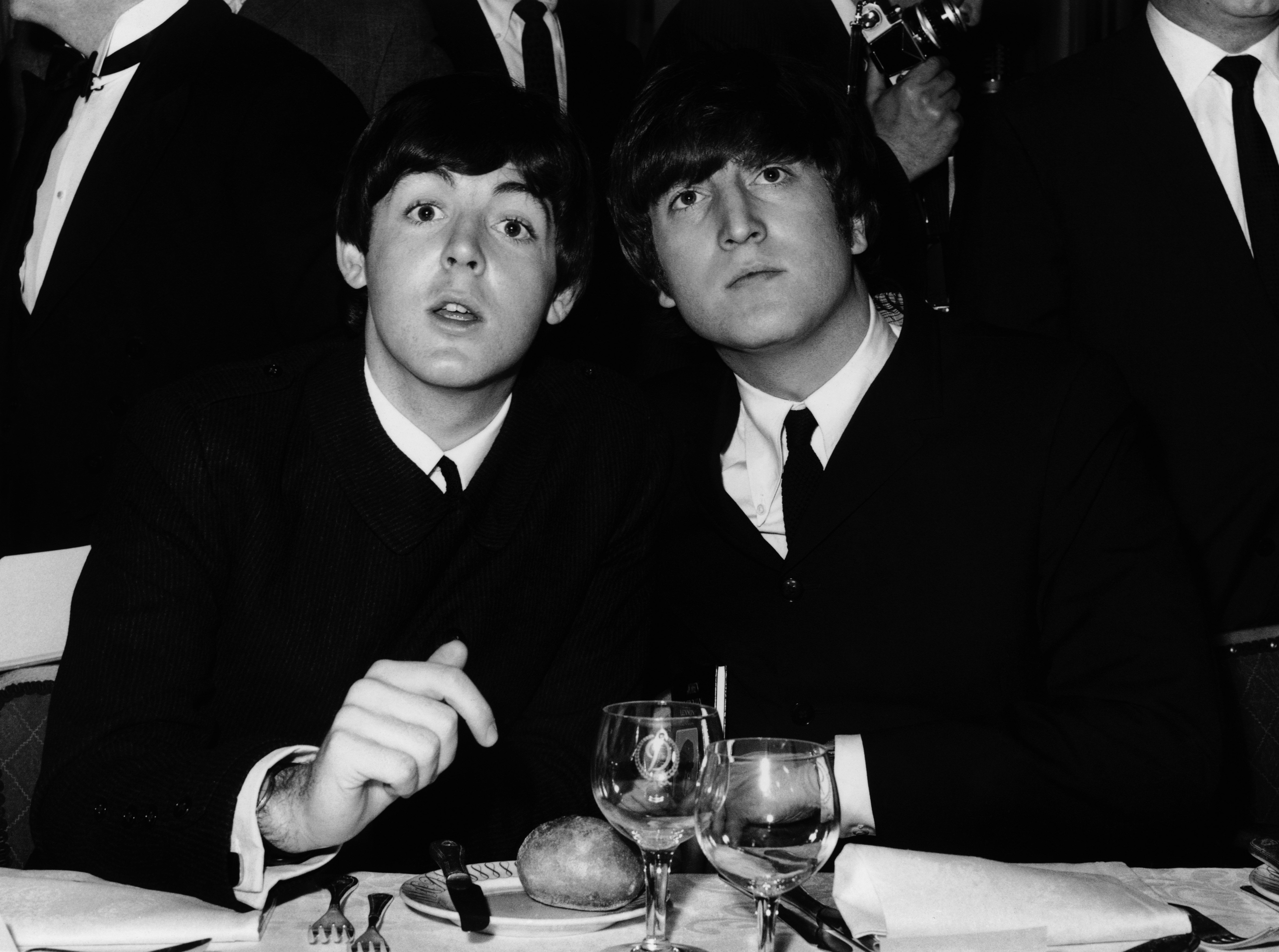 John Lennon and Paul McCartney during 1963. | Source: Getty Images