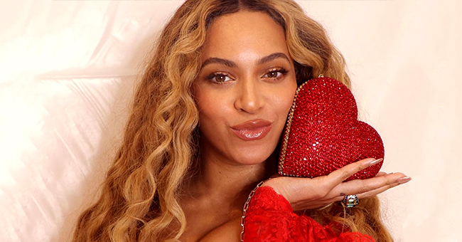 Beyoncé Fuels Pregnancy Rumors after Photo in Lavender Dress with High Slit