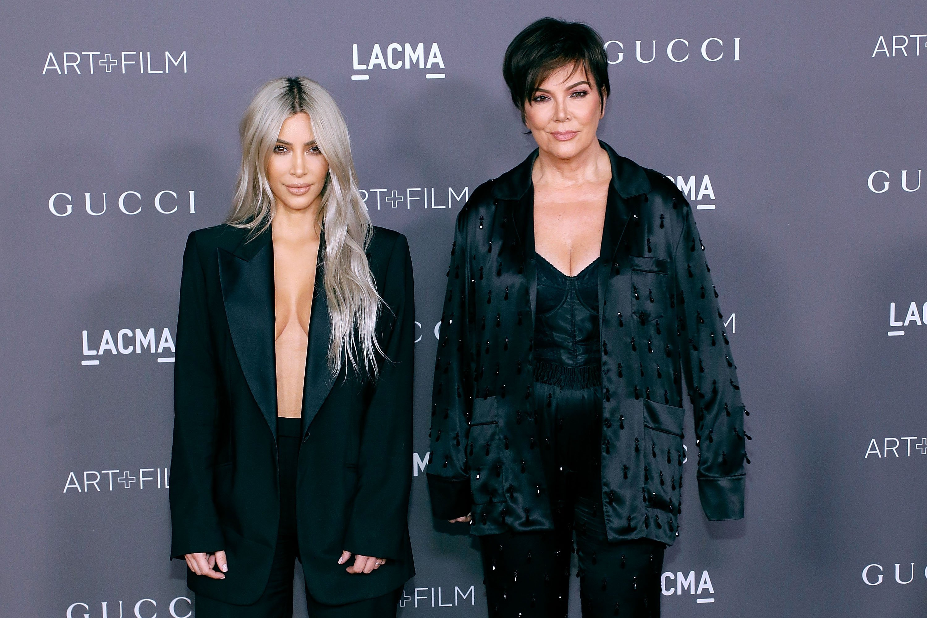 Kim Kardashian West and Kris Jenner attend the 2017 LACMA Art + Film Gala in Los Angeles, California on November 4, 2017 | Photo: Getty Images
