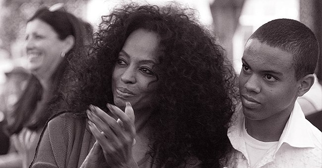 Diana Ross' Son Evan Has Fans Feeling Nostalgic with a Black & White Throwback Pic with His Mom