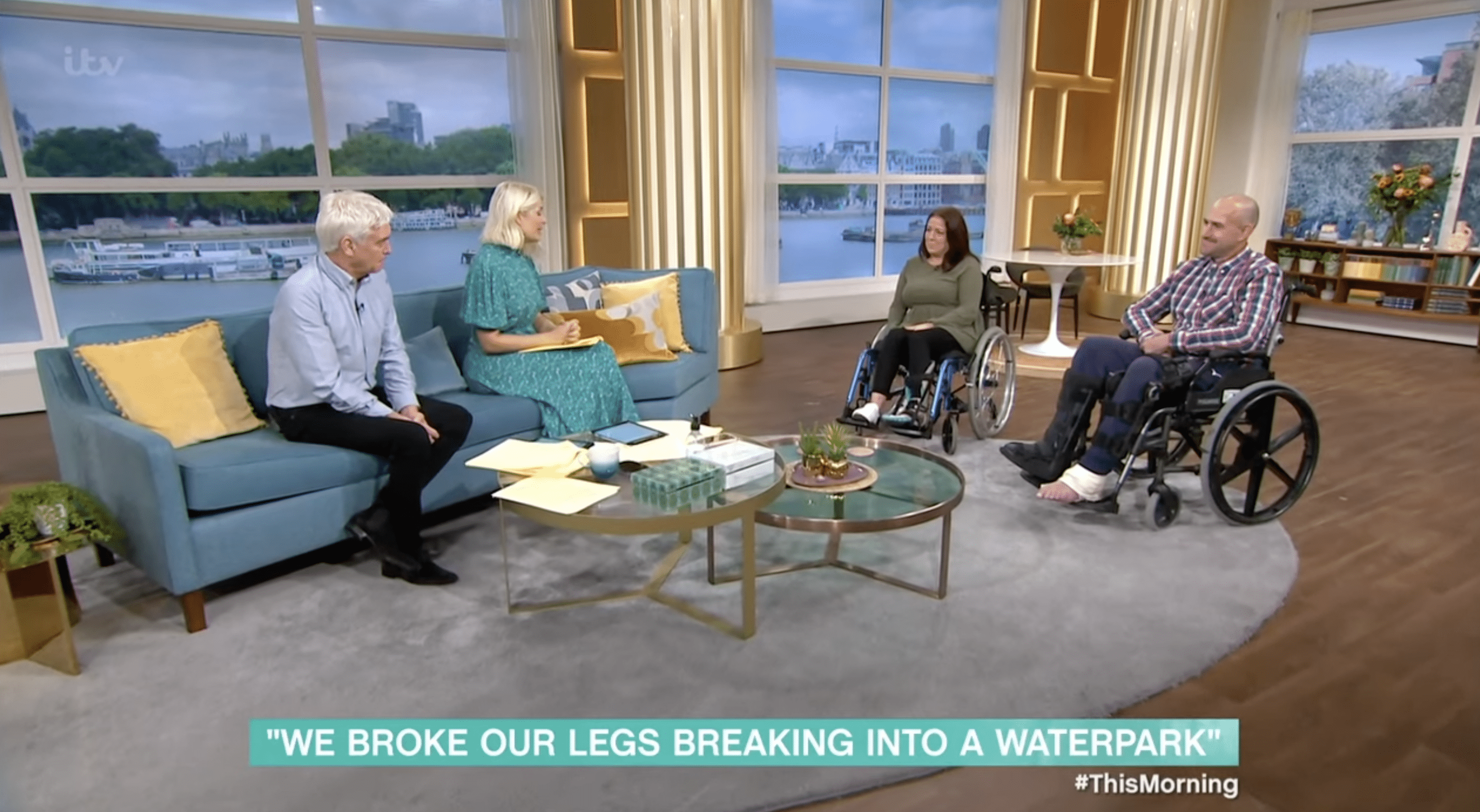 """Claire Vickers and Barry Douglas shared the story of their horrible accident with """"ThisMorning."""" 