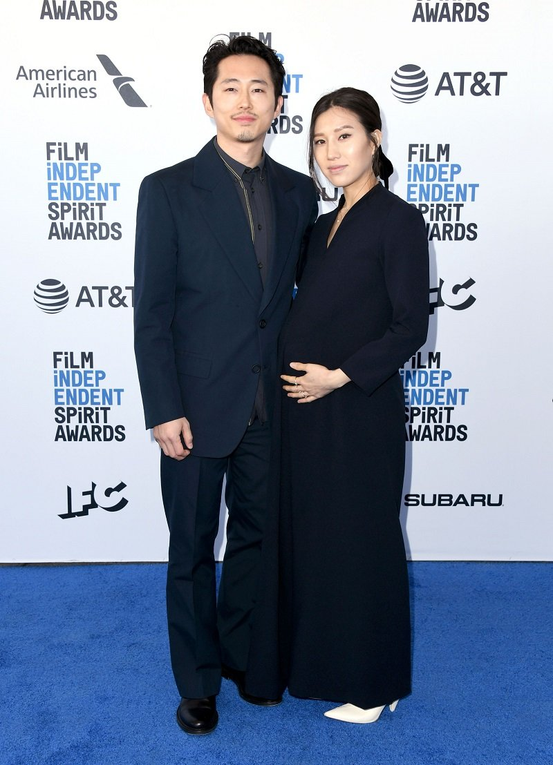 Steven Yeun and Joana Pak on February 23, 2019 in Santa Monica, California | Photo: Getty Images