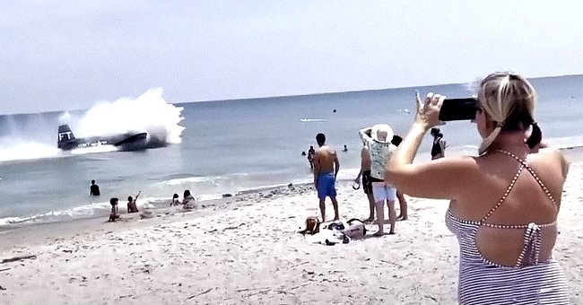 WWII Era Plane Makes Emergency Landing On Water In Front of a Crowded Beach in Florida