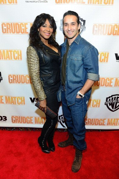 "Trina Braxton and Gabe Solis attends the ""Grudge Match"" screening at AMC Parkway Pointe on December 17, 2013 