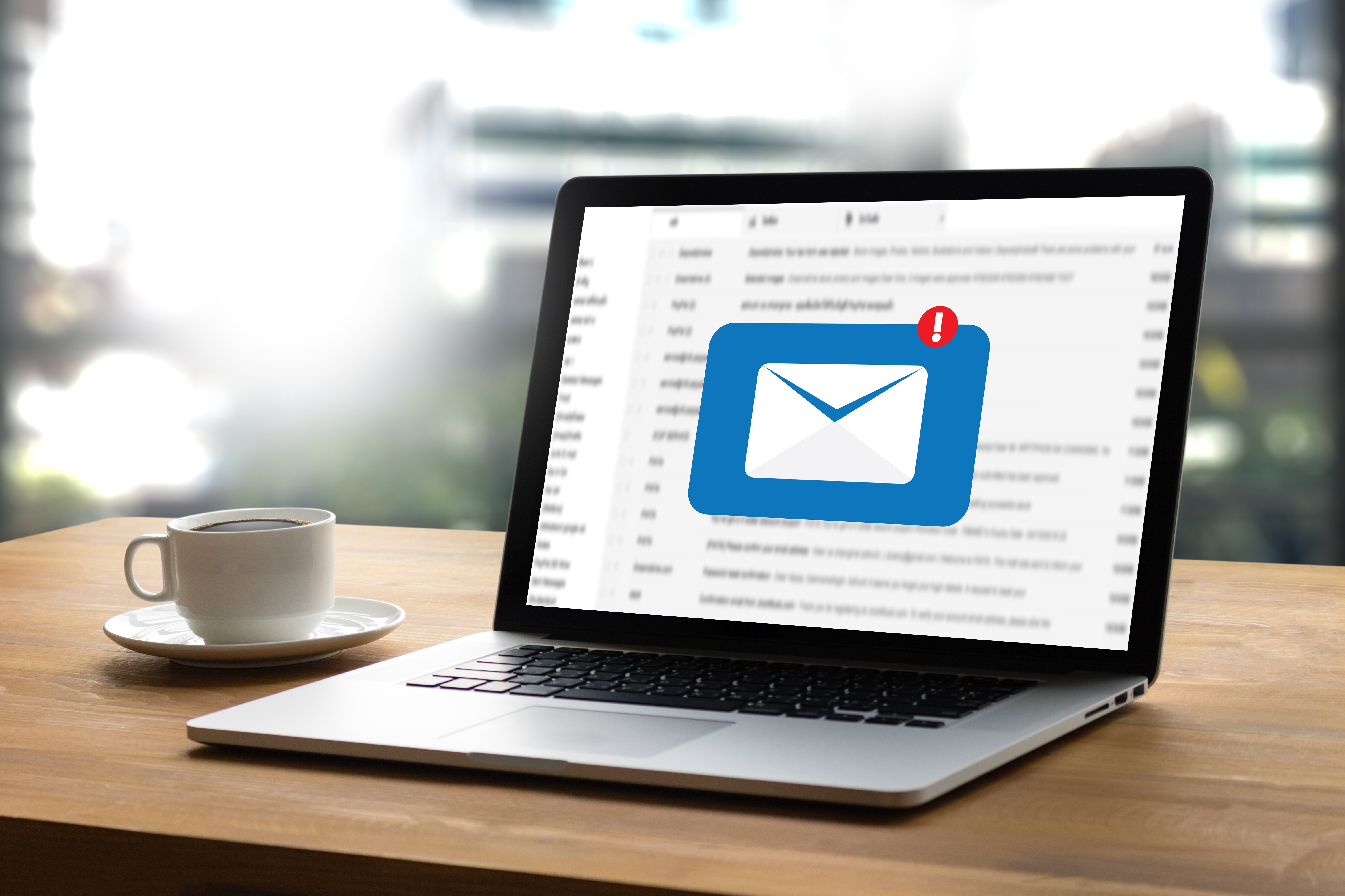 Laptop with open mail.   Photo: Shutterstock