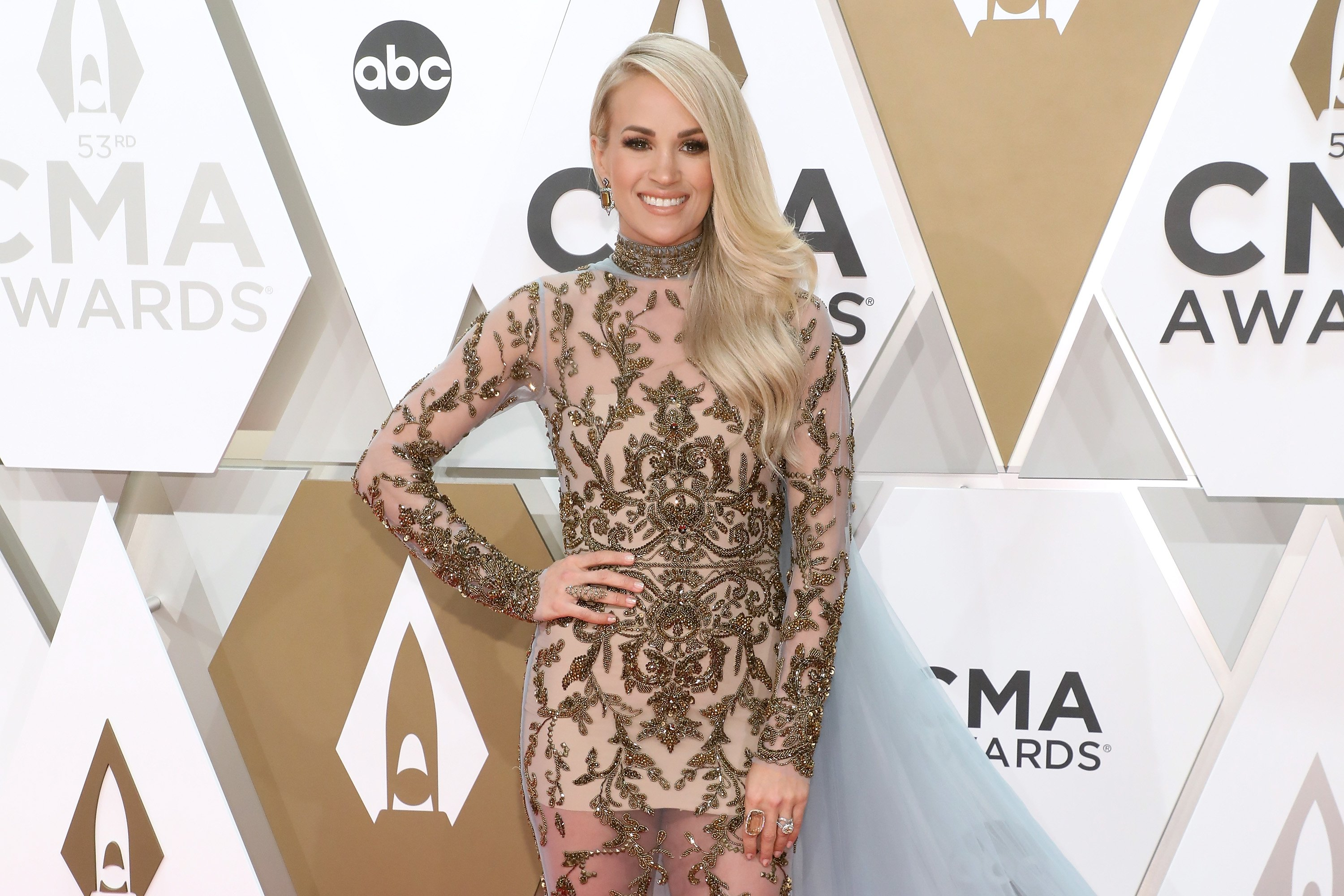 Carrie Underwood attends the 53nd annual CMA Awards on November 13, 2019, in Nashville, Tennessee. | Source: Getty Images.