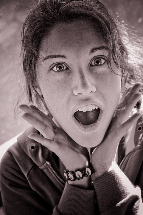 Teenager with shocked expression. Image credit: Pixabay