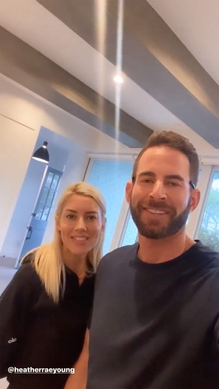 Photo of Heather Rae and  El Moussa in their newly purchased home.| Photo: Instagram / therealtarekelmoussa
