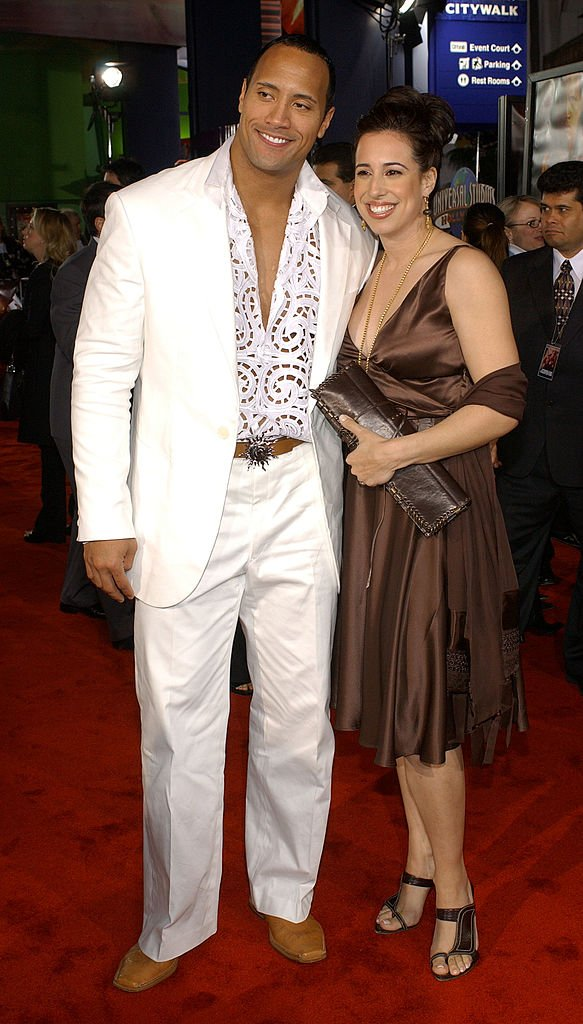 Dwayne Johnson et Dany Garcia le 17 avril 2002. l Source : Getty Images
