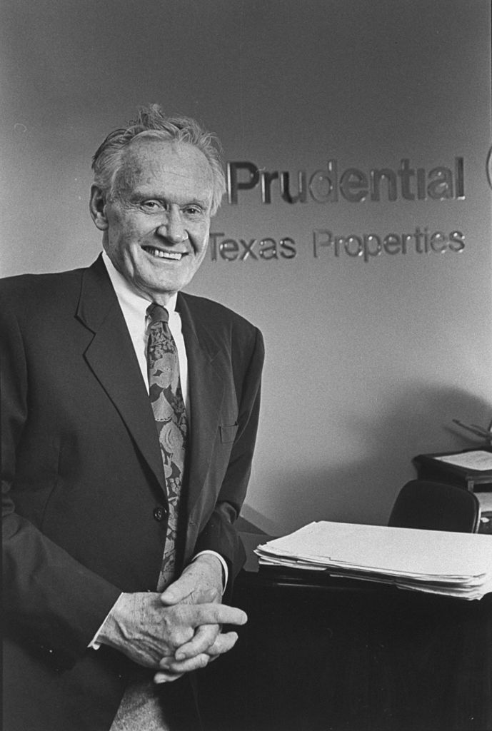 Bill Loud, former star of '73 PBS TV documentary series An American Family, posing at desk in his Prudential Texas Properties office.   Photo: Getty Images