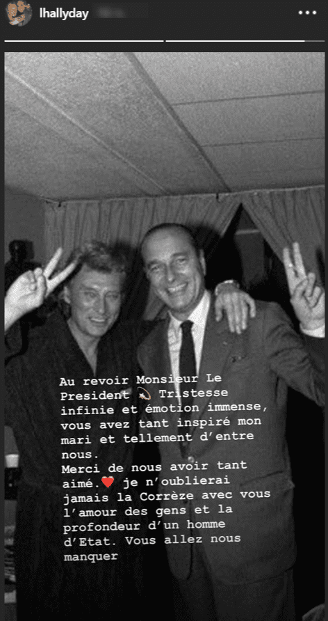 Jacques Chirac avec Johnny Hallyday. | Instagram/lhallyday