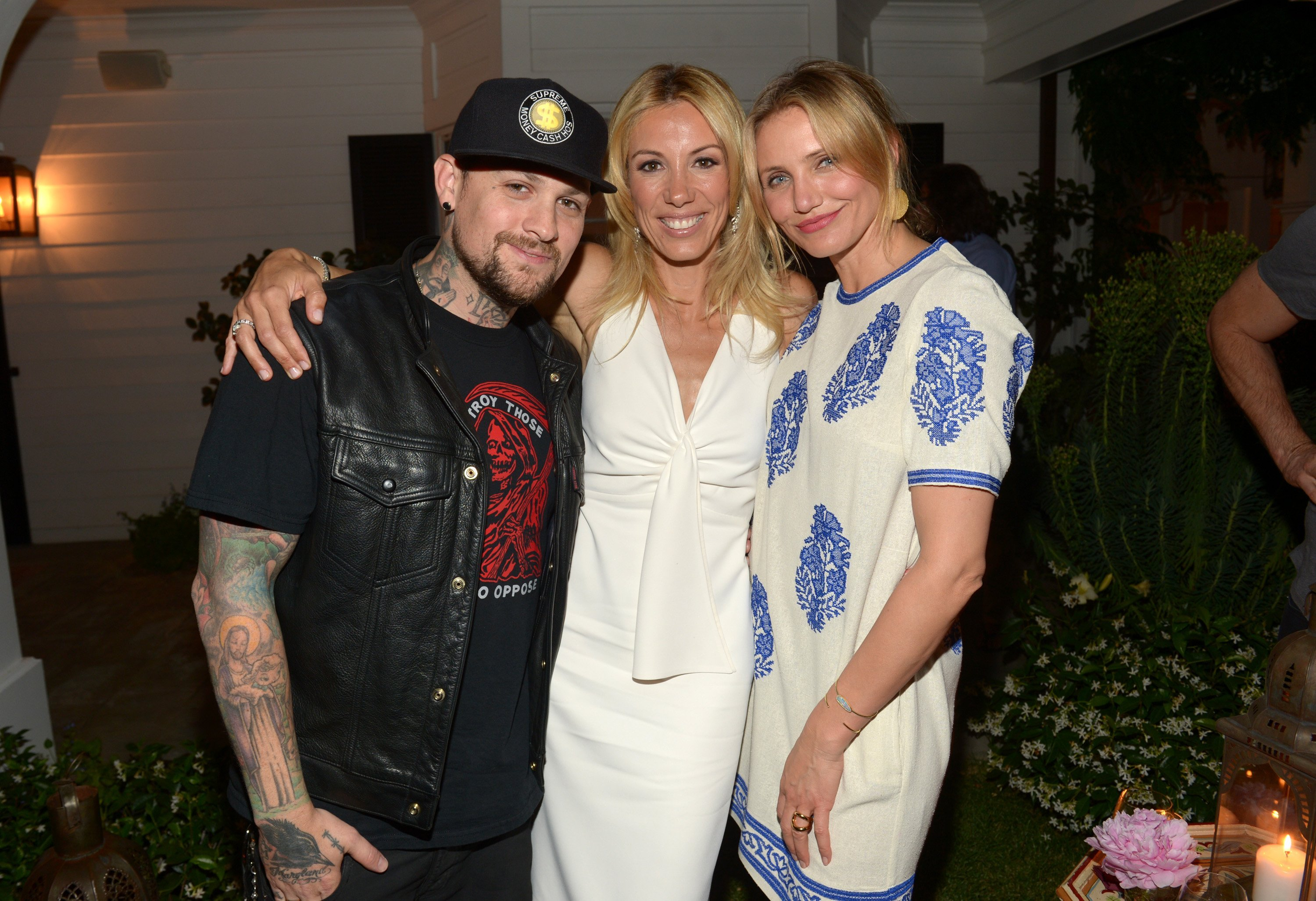 Benji Madden, author Vicky Vlachonis, and actress Cameron Diaz celebrate the launch of The Body Doesn't Lie by Vicky Vlachonis on May 15, 2014, in Los Angeles, California. | Source: Getty Images.