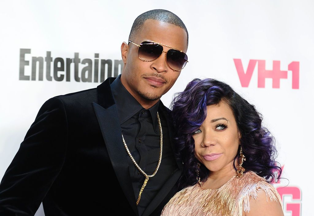 T.I. and Tiny Harris during the VH1 Big In 2015 with Entertainment Weekly Awards at Pacific Design Center on November 15, 2015 in West Hollywood, California. | Source: Getty Images