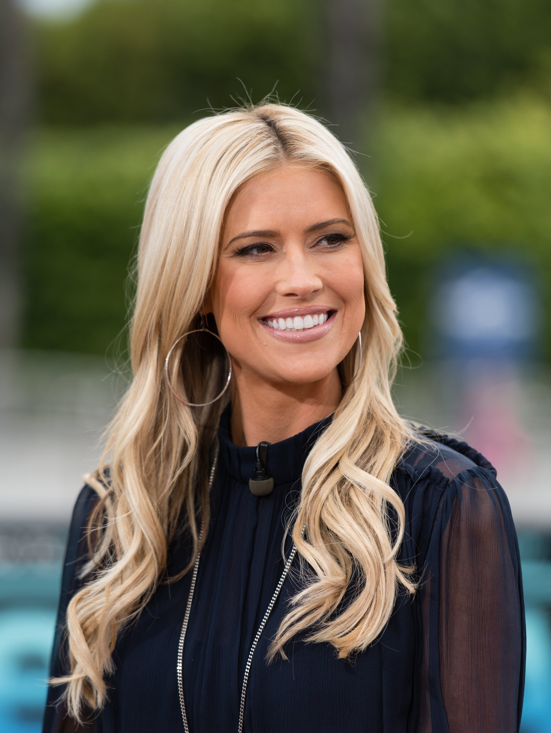 """Christina Anstead visits """"Extra"""" at Universal Studios Hollywood on May 22, 2019 in Universal City, California 