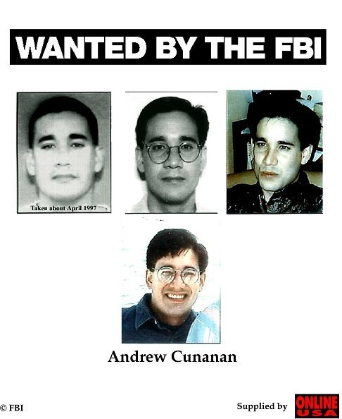 Wanted By The Fbi: Andrew Cunanan   Photo: Getty Images
