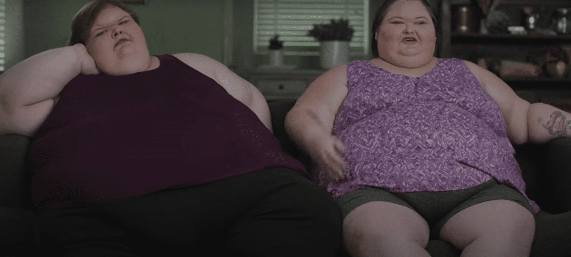 """Amy and Tammy Slaton during an episode of their show """"1000-LB Sisters."""" 