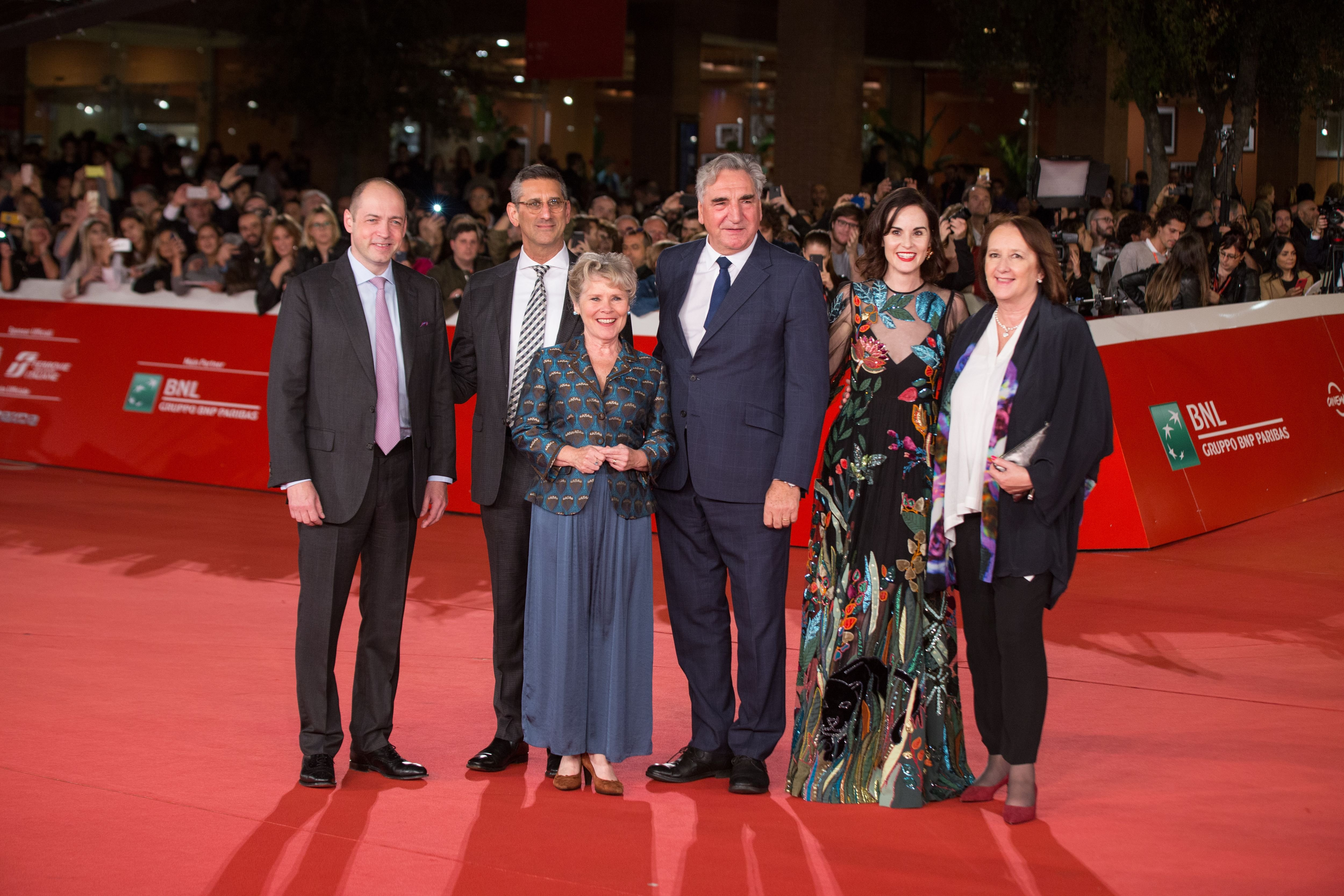 """The Cast of """"Downton Abbey"""" at the red carpet at the Rome Film Fest on  October 19, 2019 