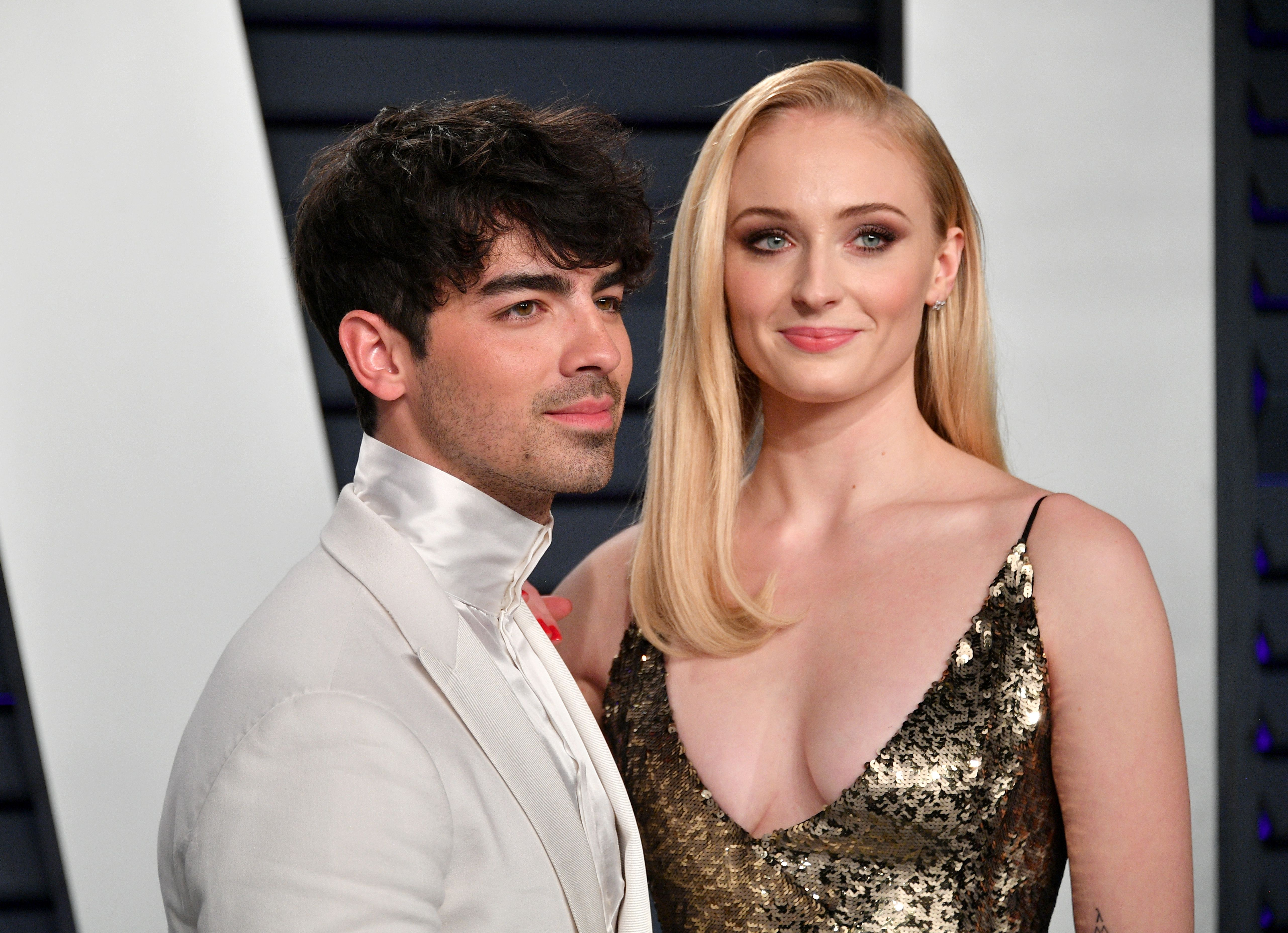 Joe Jonas and Sophie Turner during the 2019 Vanity Fair Oscar Party at Wallis Annenberg Center for the Performing Arts on February 24, 2019 in Beverly Hills, California. | Source: Getty Images