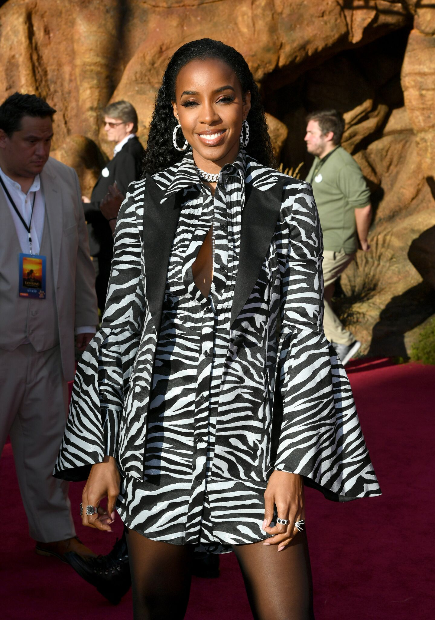 """Kelly Rowland attends the premiere of Disney's """"The Lion King"""" at Dolby Theatre 