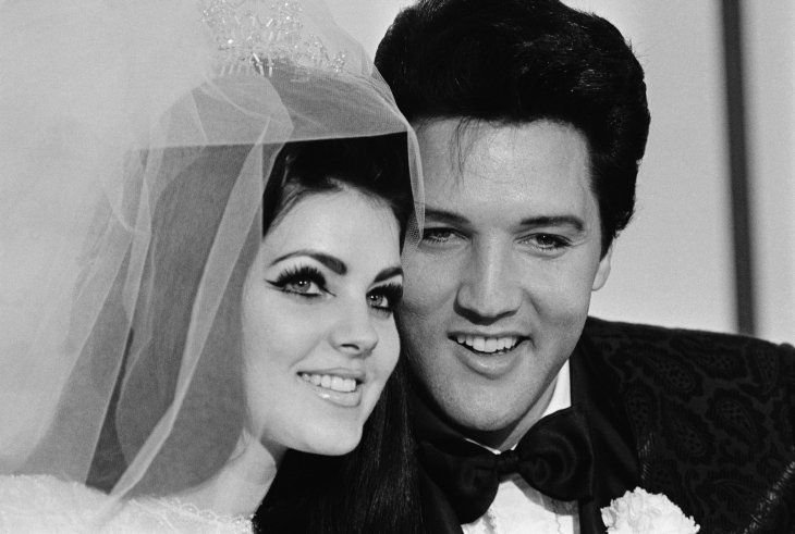 Elvis and Priscilla at their wedding in 1967   Photo: Getty Images