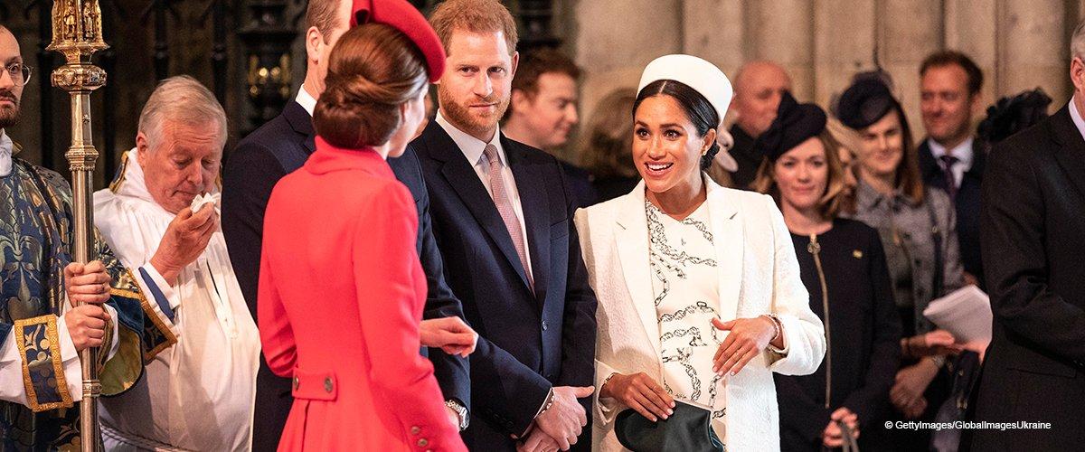 Kate Middleton saluda a Meghan Markle con un cálido beso tras rumores de supuesto distanciamiento